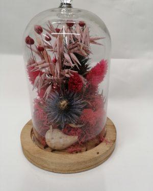 Cloche fleurs séchées