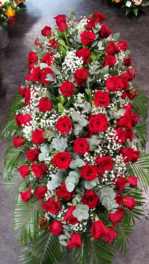 dessus roses rouges